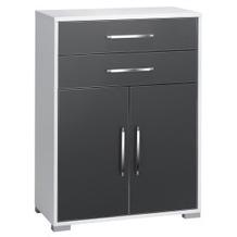 MAJA Möbel Aktenregal Icy-weiß - grau Hochglanz 800 x 1097 x 400 mm