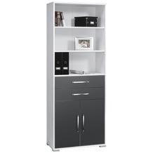 MAJA Möbel Aktenregal Icy-weiß - grau Hochglanz 800 x 2144 x 400 mm