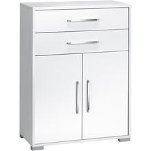 MAJA Möbel Aktenregal Icy-weiß - weiß Hochglanz, 2 Türen, 2 Schubladen 800 x 1097 x 400 mm