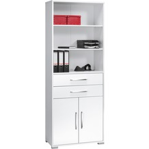 MAJA Möbel Aktenregal Icy-weiß - weiß Hochglanz 800 x 2144 x 400 mm