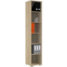 MAJA Möbel Aktenregal System Edelbuche 42,1 x 214,4 x 40 cm