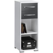 MAJA Möbel Aktenregal System Sets Icy-weiß grau Hochglanz 42,1 x 109,7 x 40 cm