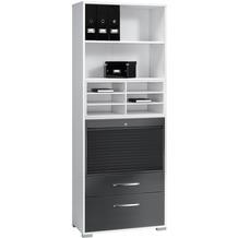 MAJA Möbel Aktenregal System Sets Icy-weiß grau Hochglanz Typ I