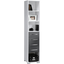 MAJA Möbel Aktenregal System Sets Icy-weiß grau Hochglanz 42,1 x 214,4 x 40 cm