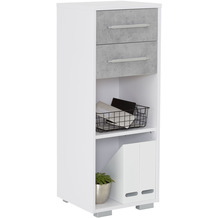 MAJA Möbel Aktenregal System Sets Icy-weiß steingrau 42,1 x 109,7 x 40 cm