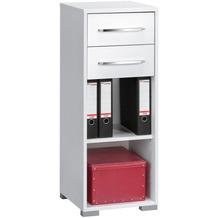 MAJA Möbel Aktenregal System Sets Icy-weiß weiß Hochglanz 42,1 x 109,7 x 40 cm