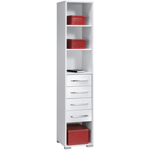 MAJA Möbel Aktenregal System Sets Icy-weiß weiß Hochglanz 42,1 x 214,4 x 40 cm