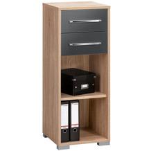 MAJA Möbel Aktenregal System Sets Sonoma-Eiche grau Hochglanz 42,1 x 109,7 x 40 cm