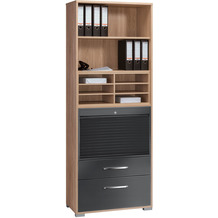 MAJA Möbel Aktenregal System Sets Sonoma-Eiche grau Hochglanz Typ I groß