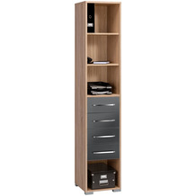 MAJA Möbel Aktenregal System Sets Sonoma-Eiche grau Hochglanz 42,1 x 214,4 x 40 cm