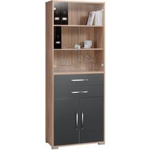 MAJA Möbel Aktenregal System Sets Sonoma-Eiche grau Hochglanz Typ II groß