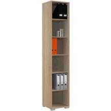 MAJA Möbel Aktenregal System Sonoma-Eiche 42,1 x 214,4 x 40 cm