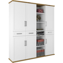 MAJA Möbel Aktenschrank Villo Office weiß matt - Asteiche 179,8 x 202,1 x 43,5 cm