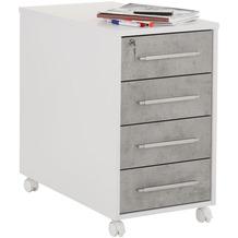 MAJA Möbel Anstell-Rollcontainer SYSTEM Icy-weiß - steingrau 43 x 75 x 80 cm