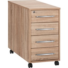 MAJA Möbel Anstell-Rollcontainer SYSTEM Sonoma-Eiche 43 x 75 x 80 cm