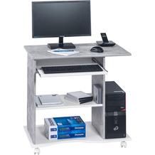 MAJA Möbel Computertisch OFFICE EINZELMODELLE betonoptik - weiß uni 80 x 75 x 50 cm