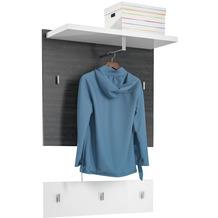 MAJA Möbel Garderoben - Paneel Vendo Ash oak weiß Hochglanz