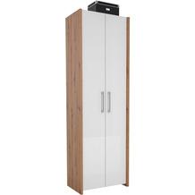 MAJA Möbel Garderobenschrank Finis Asteiche Lack weiß Spiegelglanz Typ I