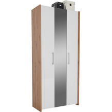 MAJA Möbel Garderobenschrank Finis Asteiche Lack weiß Spiegelglanz Typ II