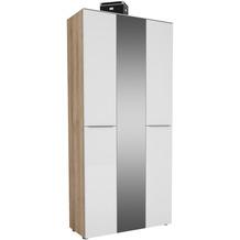 MAJA Möbel Garderobenschrank mit Glastop Trend Eiche Weißglas Typ II