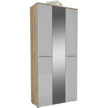 MAJA Möbel Garderobenschrank mit Holztop Trend Riviera Eiche Glas seidengrau Typ II