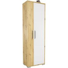 MAJA Möbel Garderobenschrank Vendo Asteiche weiß Hochglanz