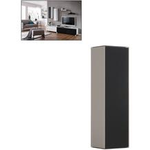 MAJA Möbel Soundconcept Hängeschrank sand matt - Schwarzglas matt 250 x 900 x 250 mm