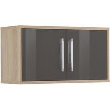 MAJA Möbel Hängeschrank System Sonoma-Eiche grau Hochglanz Typ II