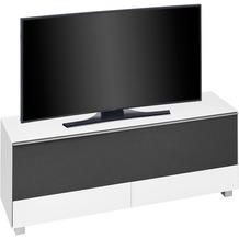 MAJA Möbel Soundconcept 7774 Weißglas matt - Akustikstoff schwarz Soundconcept