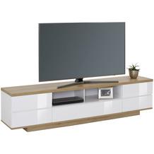 MAJA Möbel Lowboard Media Modelle Holz Riviera Eiche weiß Hochglanz breit