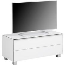 MAJA Möbel Lowboard SOUNDCONCEPT GLASS Weißglas matt 98,6 x 43,2 x 42 cm