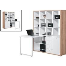 MAJA Möbel MINIOFFICE Sonoma-Eiche - Icy-weiß 1400 x 1800 x 1340 mm