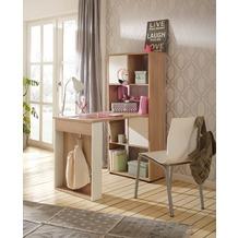 MAJA Möbel MINIOFFICE OFFICE EINZELMODELLE Sonoma-Eiche - weiß matt 64,8 x 145,1 x 114,1 cm