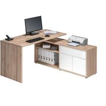 MAJA Möbel Schreib- und Computertisch Edelbuche - weiß Hochglanz 1530 x 750 x 1490 mm