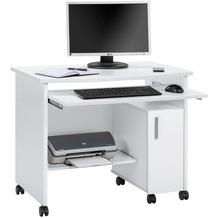 MAJA Möbel Schreib- und Computertisch OFFICE EINZELMODELLE Icy-weiß 94 x 77 x 60 cm