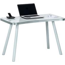MAJA Möbel Schreib- und Computertisch OFFICE EINZELMODELLE Metall Alu - Weißglas 120,2 x 73 x 60 cm