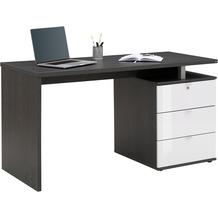 MAJA Möbel Schreib- und Computertisch Office Ash oak weiß Hochglanz