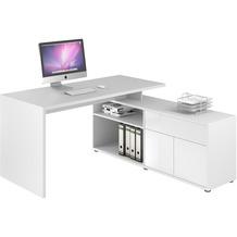 MAJA Möbel Schreib- und Computertisch Office Icy-weiß weiß Hochglanz