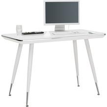 MAJA Möbel Schreib- und Computertisch Office Metall Chrom Weißglas
