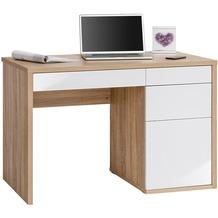MAJA Möbel Schreib- und Computertisch OFFICE EINZELMODELLE Sonoma-Eiche - weiß Hochglanz 110 x 77,5 x 60 cm