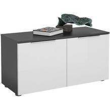MAJA Möbel Schuhbank Trend anthrazit Weißglas Typ II