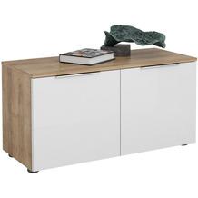 MAJA Möbel Schuhbank Trend Riviera Eiche Weißglas Typ II