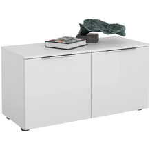 MAJA Möbel Schuhbank Trend weiß matt Weißglas Typ II