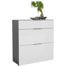 MAJA Möbel Schuhschrank mit Glastop Trend anthrazit Weißglas Typ II