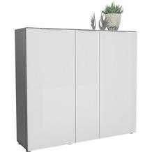 MAJA Möbel Schuhschrank mit Glastop TREND GARDEROBE anthrazit - Weißglas 135,3 x 124,3 x 40 cm