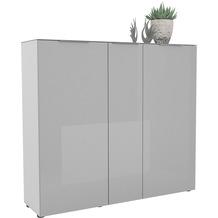 MAJA Möbel Schuhschrank mit Glastop Trend weiß matt Glas seidengrau Typ I