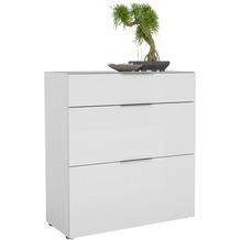 MAJA Möbel Schuhschrank mit Glastop Trend weiß matt Weißglas Typ III