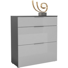 MAJA Möbel Schuhschrank mit Holztop Trend anthrazit Glas seidengrau Typ III