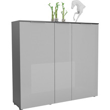 MAJA Möbel Schuhschrank mit Holztop Trend anthrazit Glas seidengrau Typ I