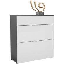MAJA Möbel Schuhschrank mit Holztop Trend anthrazit Weißglas Typ III